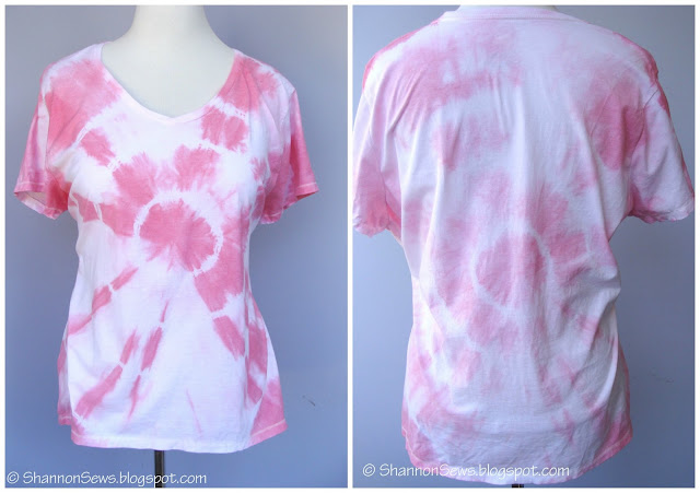 How to make tie dye rings t-shirt with rit dye