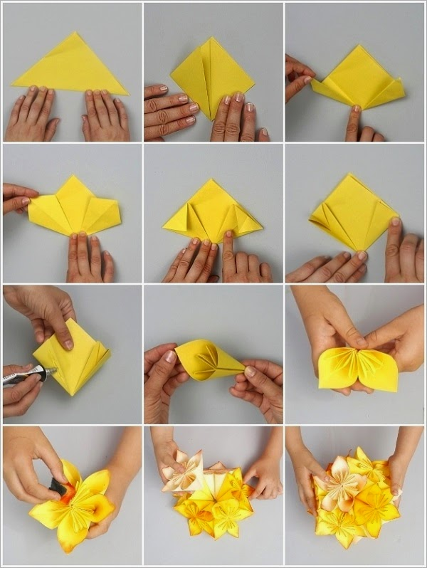 How to Make Origami Flowers - Origami Tulip Tutorial with Diagram ... | 798x600