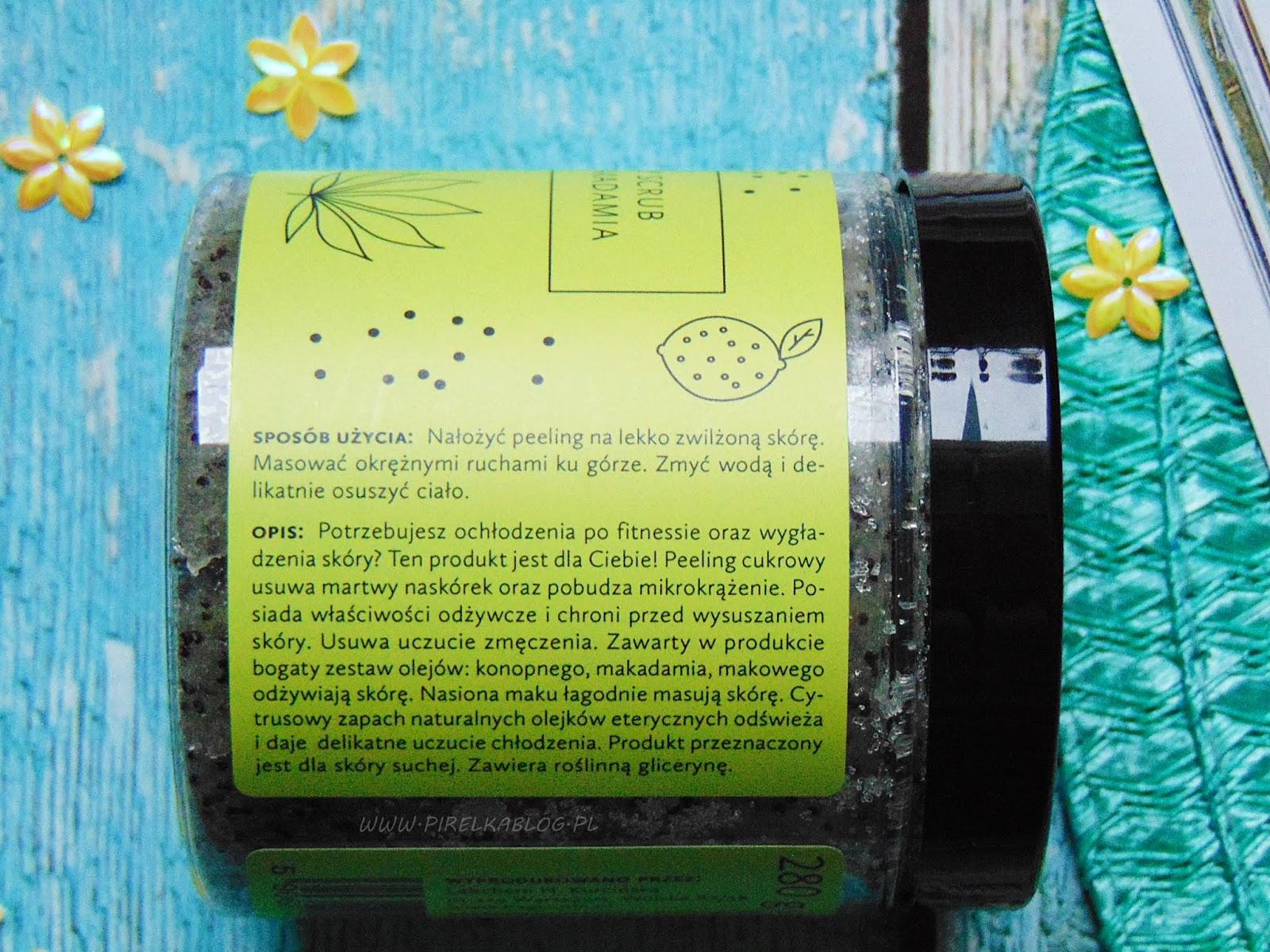 Hagi, Naturalny scrub do ciała z olejem konopnym i makadamia