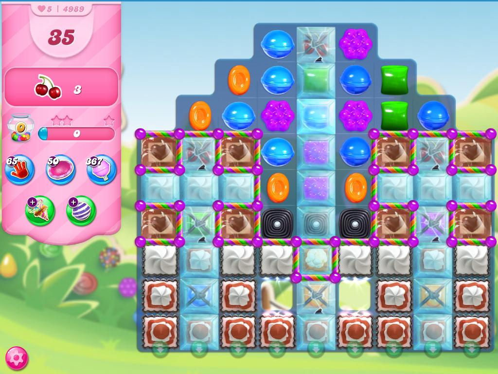 Candy Crush Saga level 4989
