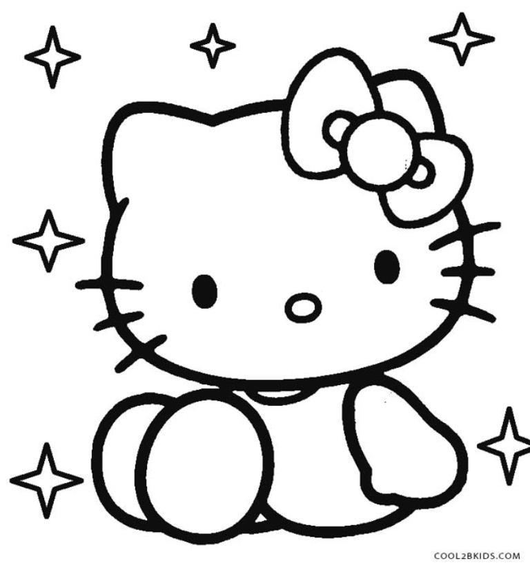 40 Gambar Hello Kitty Lucu Hitam Putih Info Baru