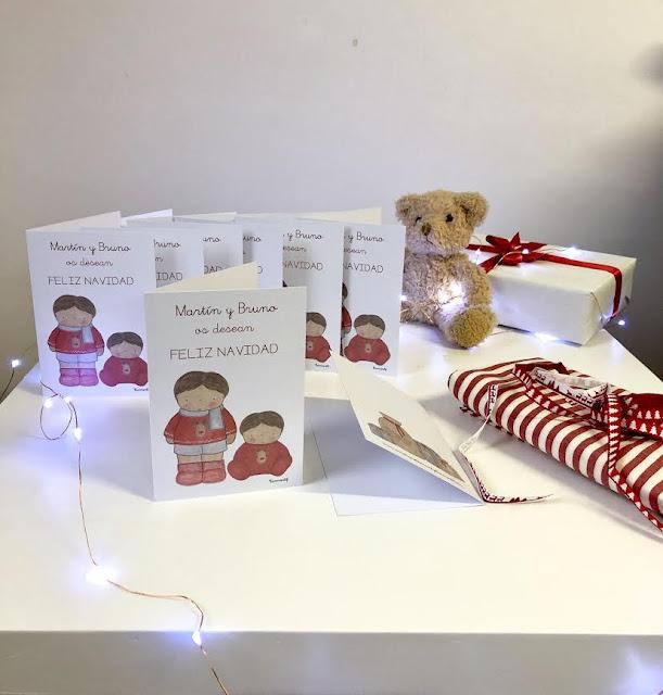 postal de navidad personalizada-Felicitación Navidad niños