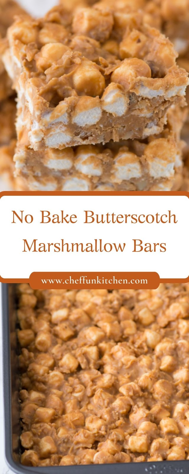 No Bake Butterscotch Marshmallow Bars