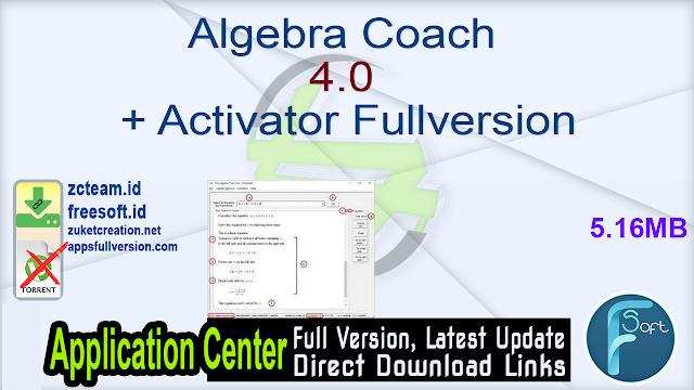Algebra Coach 4.0 + Activator Fullversion