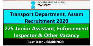 Assam Transport Department Job