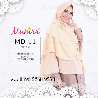 Jilbab Munira MD 11 Koleksi jilbab syar'i terbaru dewasa