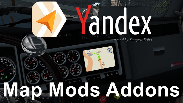 cover ats yandex navigator normal & night version map mods addons