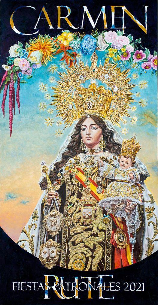 Cartel de la Festividad de la Virgen Del Carmen De Rute 2021