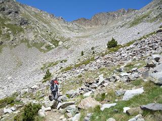 Pedrera en la ladera del Puig Sec