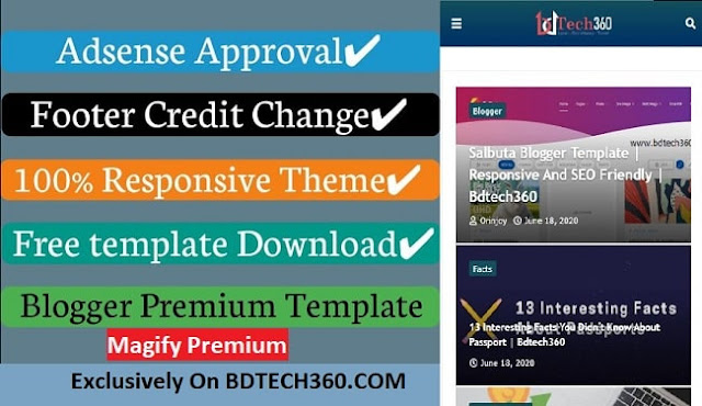 Magify Premium Blogger Template