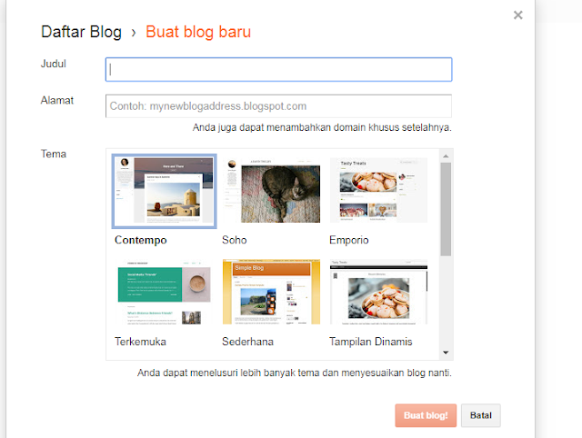 form buat blog