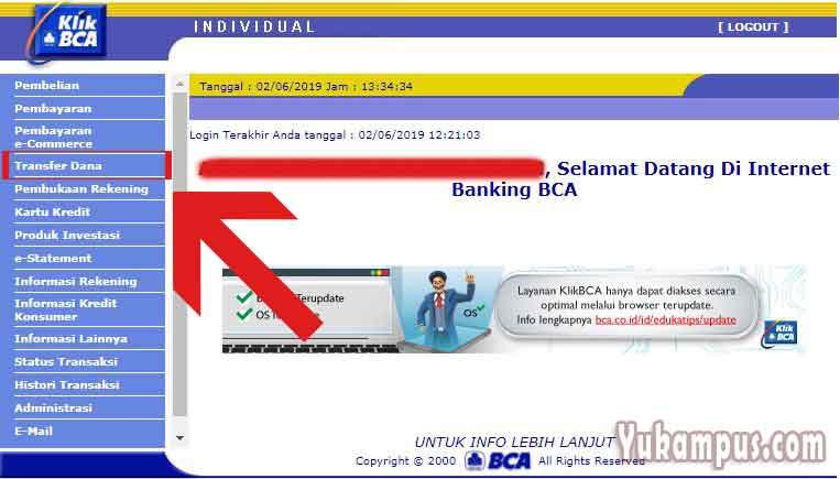 Cara Transfer Bca Ke Mandiri Via Internet Banking Klikbca Yukampus