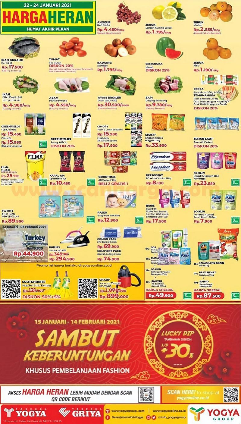 Katalog Promo Toserba Yogya Weekend 22 - 24 Januari 2021