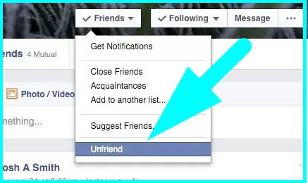 how to unfriend on facebook