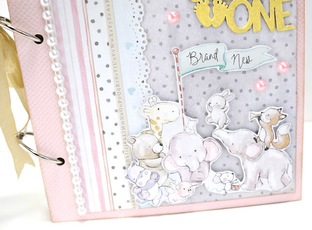 Little One Baby Album Embellished Cover by Dana Tatar for FabScraps