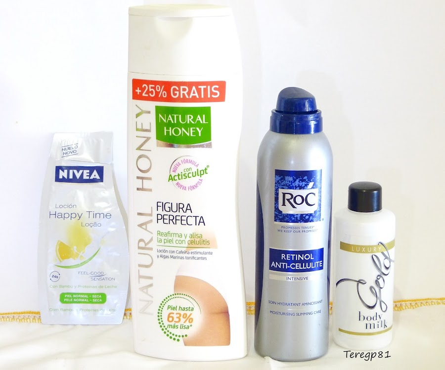 Nivea, natural honey, roc y mercadona