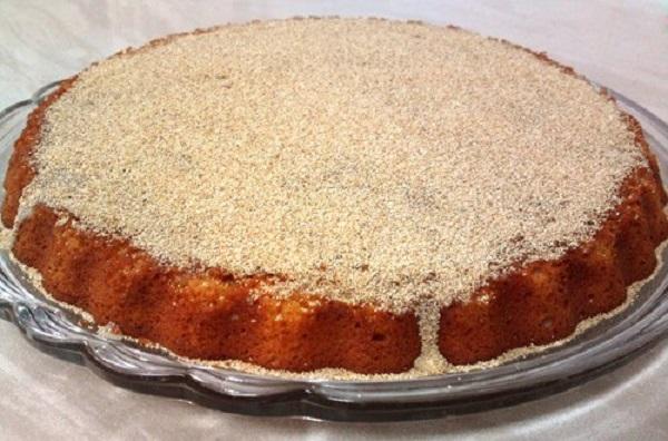 How to make sand cake with semolina