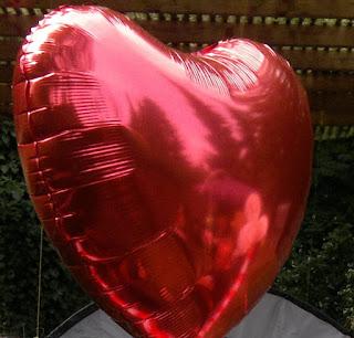 Helium-Folienballonherz.