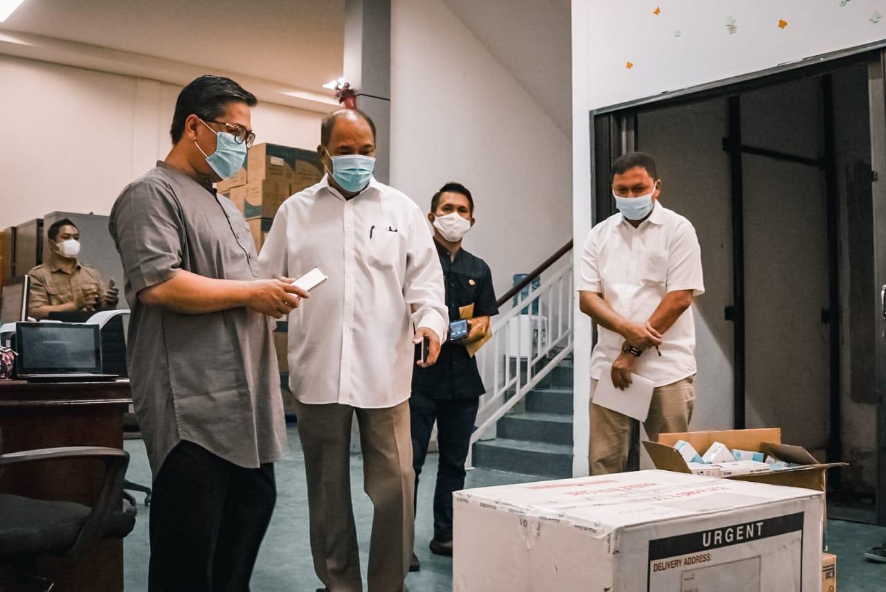 Walikota Tebingtinggi Tinjau Pendistribusian Vaksin Covid-19 di Medan
