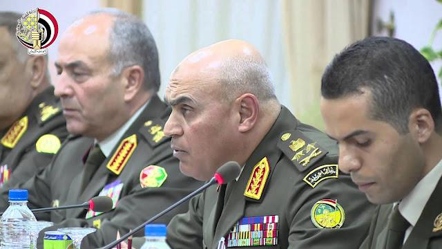الفريق اول صدقى صبحى يلتقى وزير الدفاع الروسى