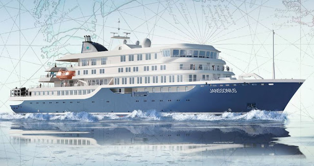 Oceanwide Expeditions Steel Cutting for New Exploration Ship Janssonius sister ship Hondius