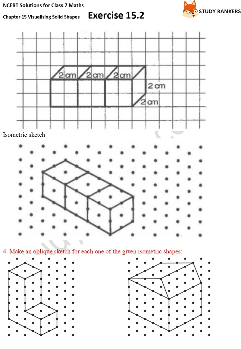 NCERT Solutions for Class 7 Maths Chapter 15 Visualising Solid Shapes Exercise 15.2 Part 3