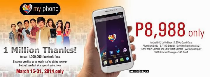 MyPhone 1 Million Thanks Promo