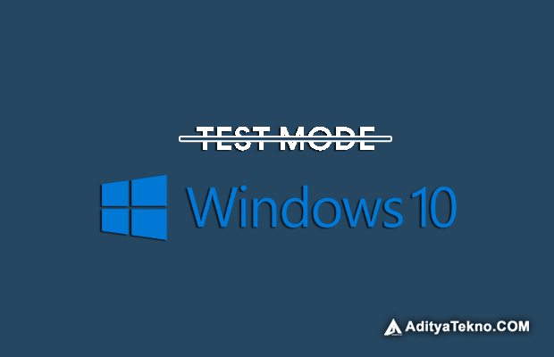 Cara Menghilangkan Watermark Test Mode pada Windows 10