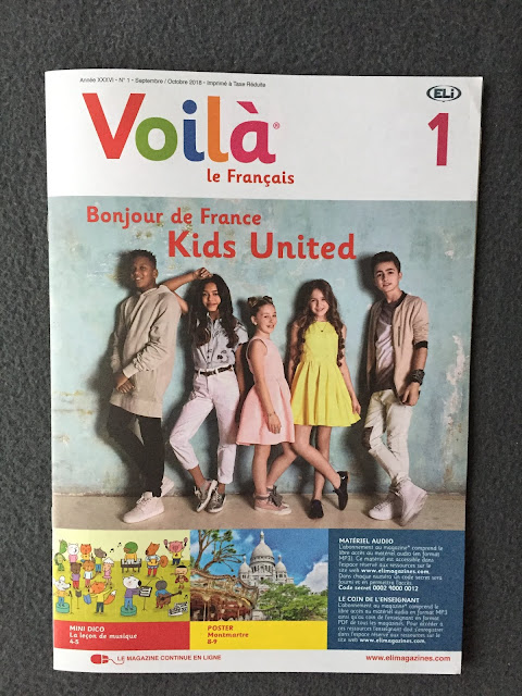 """""""Voilà"""" - okładka czasopisma - Francuski przy kawie"""