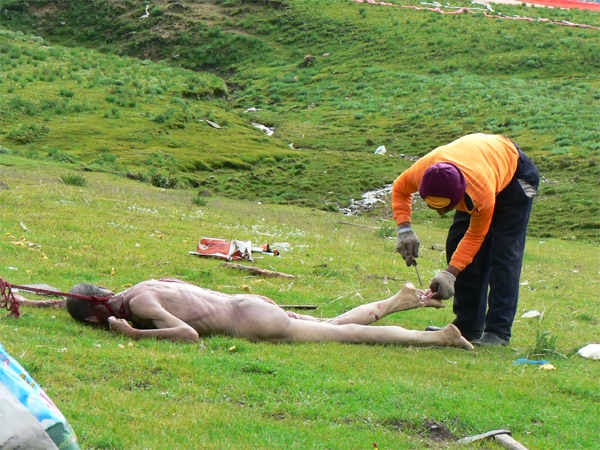Sky burial - Tibetan