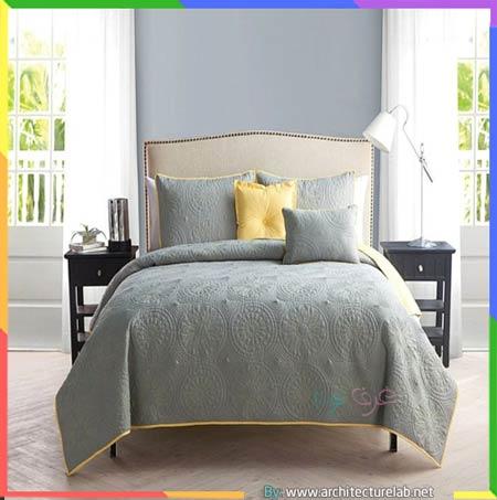 الرمادي الفاتح داخل غرف النوم
