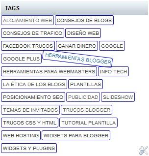 Como personalizar la nube de etiquetas de blogger