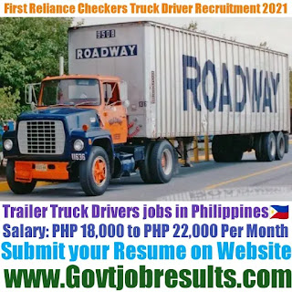 First Reliance Checkers and Surveyors Corporation Trailer Truck Driver Recruitment 2021-22