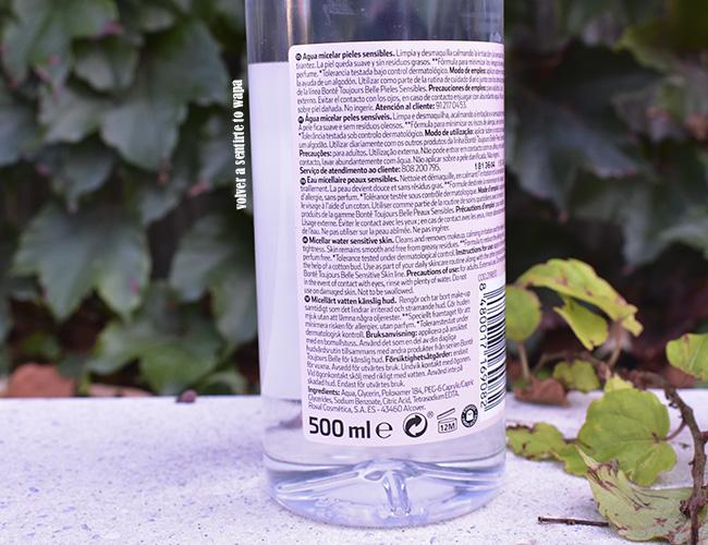 Agua Micelar para pieles sensibles de Bonté Dia Clarel