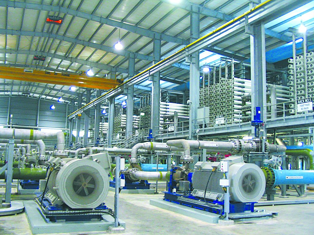 Opened in 2015, Singapore's first desalination plant, SingSpring, can produce 30 million gallons of freshwater daily.