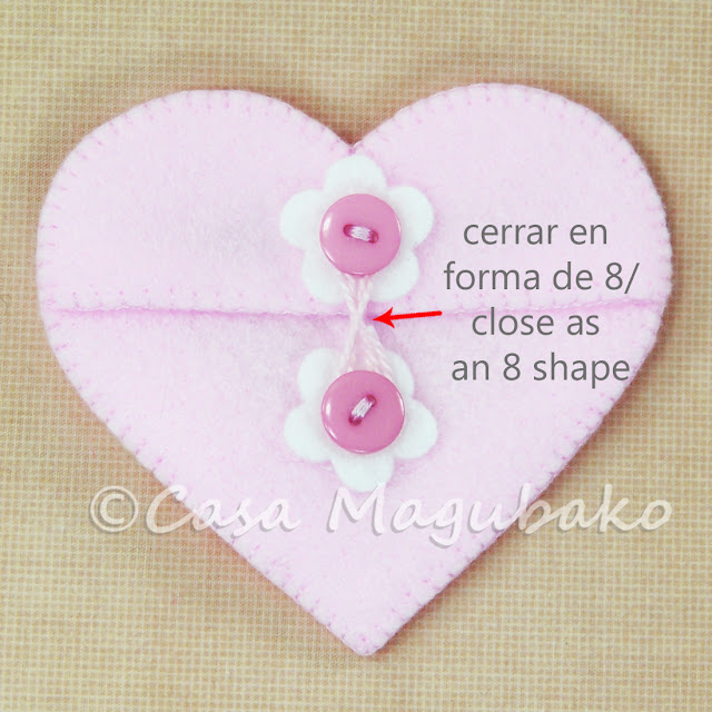 Heart Felt Case Tutorial - Closing with Thread by casamagubako.com
