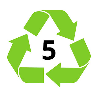 The recycling symbol used for polypropylene plastics
