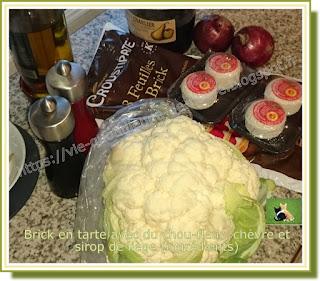 Vie quotidienne de FLaure : Brick en tarte avec du chou-fleur, chèvre, sirop de liège