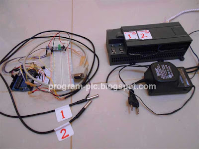 DS18B20, Arduino, RS485 and PLC