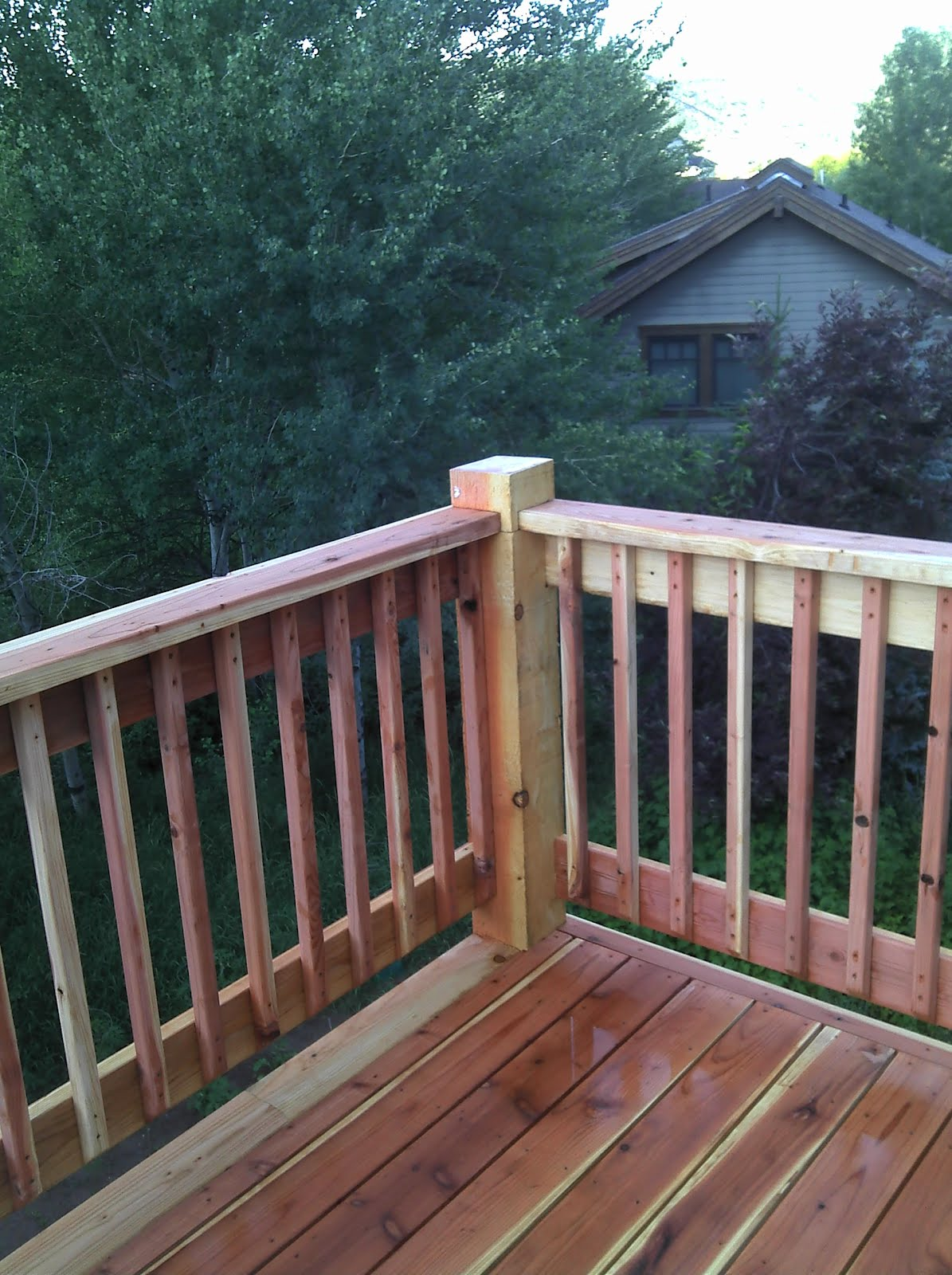 Deck Railing Joints