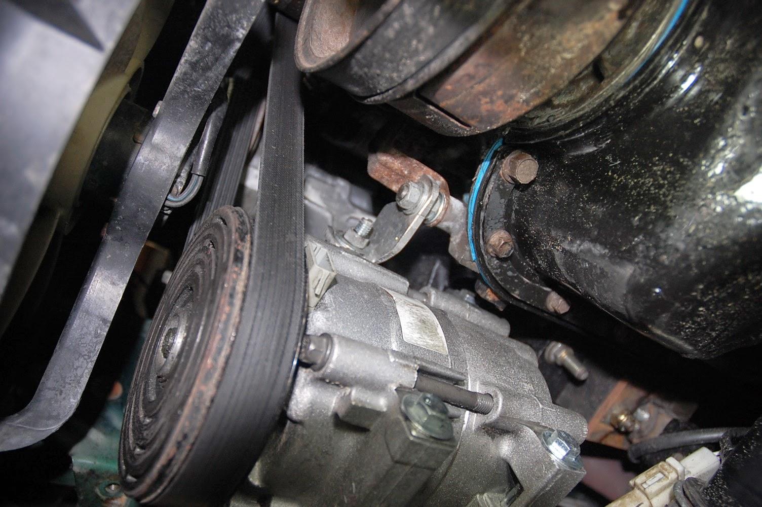 Miatav8 Conversion  Air Conditioning Compressor Relocation