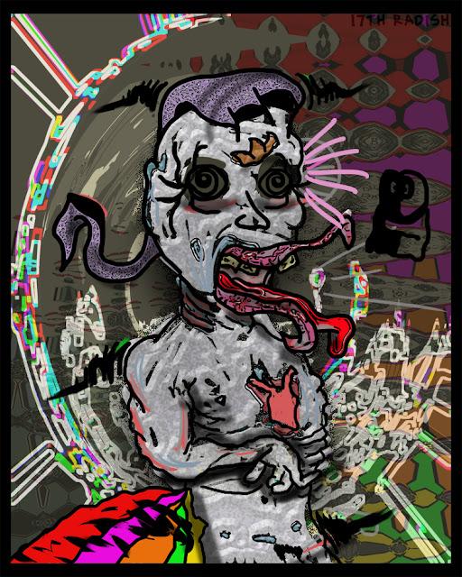 weird ass zombie digitial art