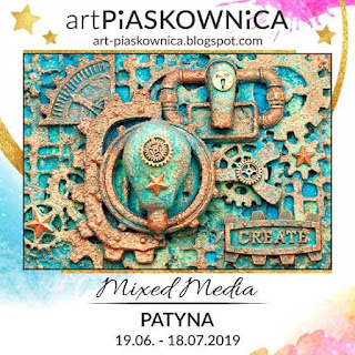 Mixed-media - efekt PATYNY