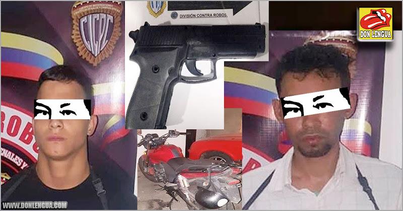 Dos delincuentes detenidos por robo a punta de pistola en Cotiza
