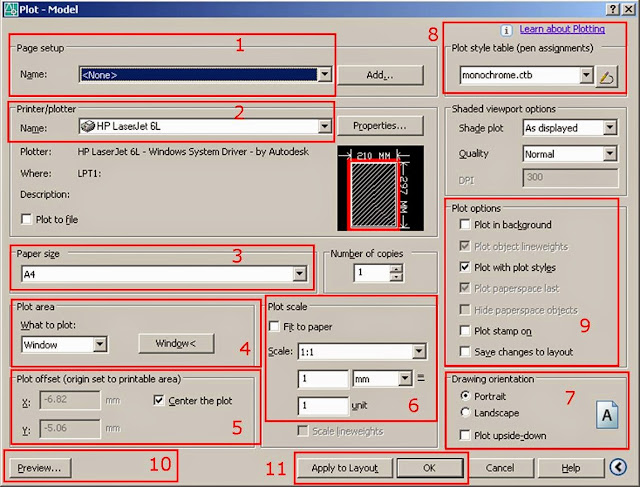 Printing-in-AutoCAD