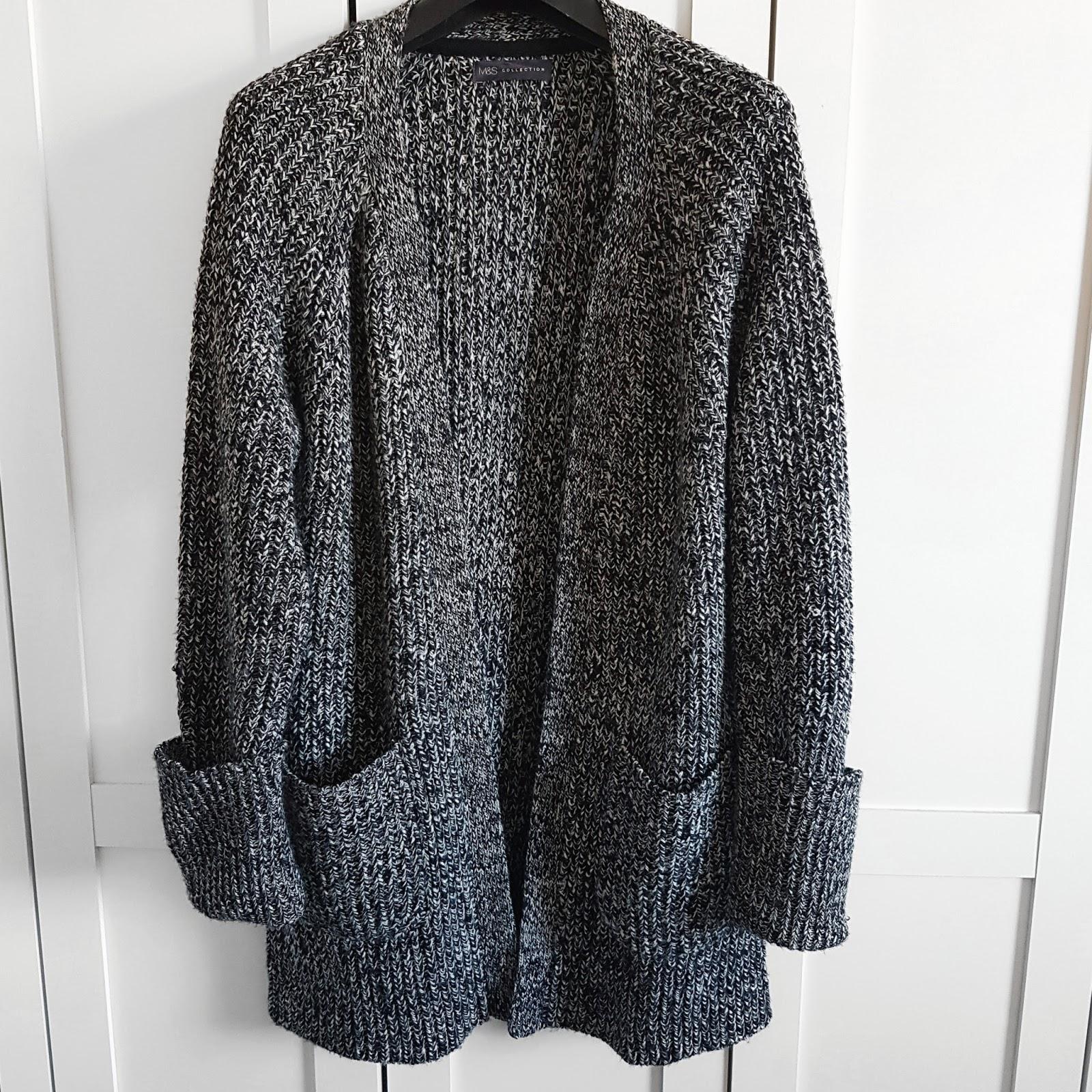 Grey chunky cardigan