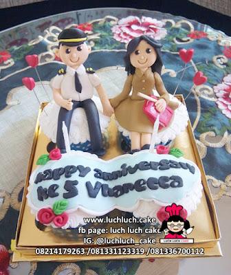 Cupcake Anniversary Tema Pilot dan Pegawai Negeri