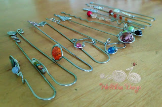 WireBliss - Beaded Wire Wrapped Bookmarks