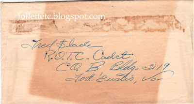 Envelope from Fort Eustis https://jollettetc.blogspot.com