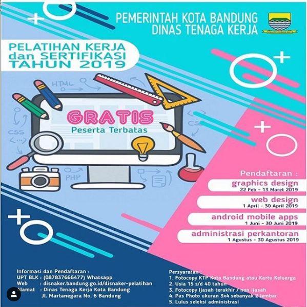 Pelatihan Kerja Gratis DISNAKER Kota Bandung